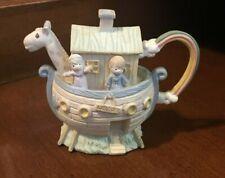 1996 Precious Moments Noah's Ark Mini Tea Pot Only
