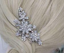 New Bridal Wedding Jewelry Crystal Rhinestone Flowers Hair Comb accessories 2407