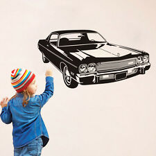 Power Car Wall Sticker Kids Boys Room Vehicle Vinyl Wall Decal Bedroom Decor