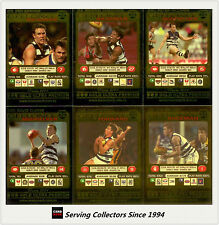 2001 Teamcoach Trading Cards Gold Parallel Team Set Geelong (6 )