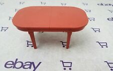 Marx Marxie Mansion Furniture Vtg DollHouse Miniature brown Plastic Dining Table