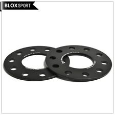 2pcs 5mm 5x120 Black Anodized Wheel Spacers Hub 72.5mm for BMW / Forged 6061T6