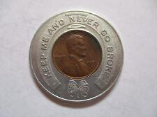 1955 Hotel Metropole Cincinnati OH Ohio Good Luck Penny encased cent