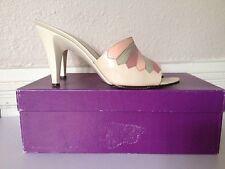 Leather MES AMIS Garolini Women's Shoes Italy Sandals Peep Stiletto 6.5M Wedding