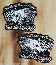 "2 x adhesivo blues ""racing Black & White"" us car rockabilly v8 Biker"