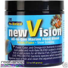 Fish Food Pellet V2O New Vision All In One Marine 2.3 oz FREE USA SHIPPING