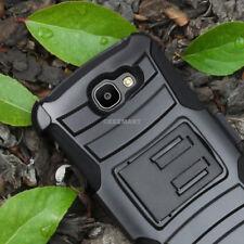 For LG Optimus Zone 3/K4/Spree/Rebel LTE Hybrid Case Armor Holster+Glass Screen