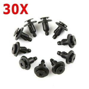 30X For Honda Plastic Screw Fasteners Clips Fairing 90683-GR1-003 90683-MBW-003