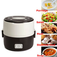 1.0L Portable Electric Lunch Box 2 Layer Mini Steamer Pot Heating Rice Cooker