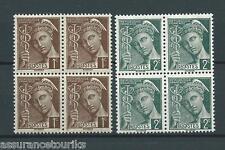 FRANCE - 1938 YT 404 à 405 blocs de 4 - TIMBRES NEUFS** MNH LUXE