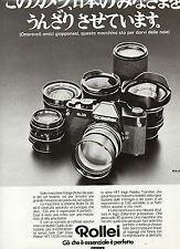 (AM) EPOCA973-PUBBLICITA'/ADVERTISING-1973- ROLLEI ROLLEIFLEX SL 35