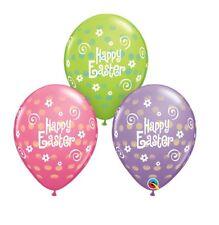 Party Supplies Egg Bunny Easter Polka Dots Pink Purple Green Latex Balloons Pk10