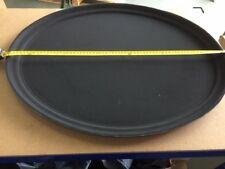 "NEW Kristallon Plastic Oval Non Slip Tray Black 27"" x 22 "" Function Serving Tray"