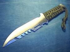 "BEKIZO Military Style Big 10.75"" KNIFE+Sheath Hunt Camp Prepper Survival Bug-Out"
