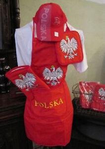 (NEW) Polish Poland Polska BBQ Barbeque Apron Set (hat not included)