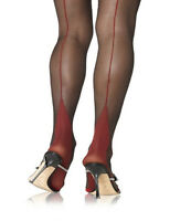 Real Raised Seam Vintage Style Seamed Stockings (Contrast Point Heel) All sizes!
