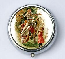 Alice in Wonderland Knight PILL case box holder horse victorian fairytale DIY