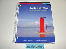 Inside Writing A Writer's Workbook Form A 7th Edition 2010 William Salomone RARE