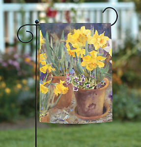 Toland Potted Daffodils 12.5 x 18 Colorful Spring Flower Garden Flag