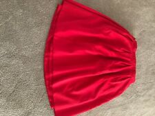 Red Polyester Table Skirt for Card Table