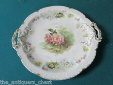 "Rosenthal Bavaria ""Carmen"" pattern, round tray, 9 3/4"", flowers and gold [100]"