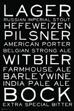 POSTER Beer Styles Black and White