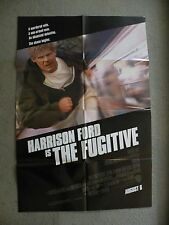 The Fugitive Harrison Ford & Tommy Lee Jones 1993 27X41 originial movie poster