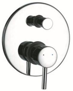 Unterputz Armatur Design Einhebelmischer Rondo mit Umsteller, rund