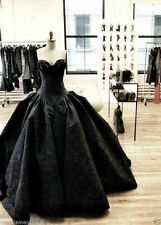 Gothic Black Formal Party Wedding Gowns Quinceanera Ball Dress Prom Dress Custom