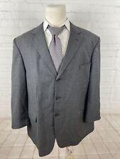 Bill Blass Men's Big and Tall Gray Blazer Striped Wool Blazer 52R $438