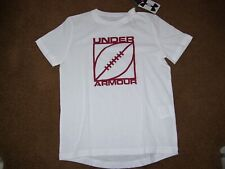 Under Armour Heat Gear Boy's Size Medium Short Sleeve Shirt New With Tags White