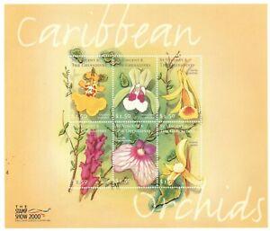 St. Vincent 2000 - SC# 2775 Orchids, Flowers, Flora - Sheet of 6 Stamps MNH