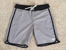LOST ENTERPRISES Mens Size 32 Grey with Black Board Shorts Swim Trunks