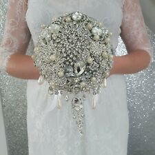 "Brooch bouquet, brides wedding Bouquet Scroll To See Video 6"" size"