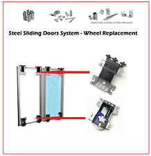 STEEL SLIDING SYSTEM WARDROBE DOOR GEAR  TOP/BOTTOM  WHEEL