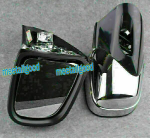 Motorcycle Side Rearview Mirrors Chrome Fit BMW K1200 K1200LT K1200M 1999-2008