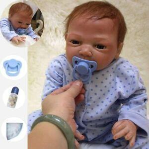 50CM Lebensecht Baby Rebornpuppen Doll Handgefertigt Silikon-Vinyl Baby Puppe DE