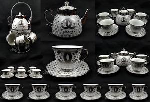 14PC Tea Set With Teapot & Rack Cups Saucers China Chinese Ceramic Tea set New