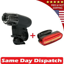 Lumintrail LTC-7026 USB Rechargeable LED Bike Headlight and  Taillight- Black