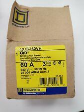 Square D Bolt-On Circuit Breaker, QOB360VH, 60A, 240V, 50/60 HZ (QTY 2)