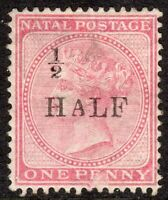 South Africa Natal 1877 1/2 on 1d rose overprint T19 crown CC mint SG87c