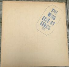 The Who, Live At Leeds vinyl LP in stapled cardboard sleeve, blue lettering 1970