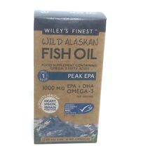 Wiley's Finest Wild Alaskan Fish Oil Peak EPA 1000mg EPA + DHA Omega-3 - 60 caps