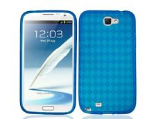 TPU Plastic Blue Gummy PhoneCase Cover for Samsung Galaxy Note 2 II N7100
