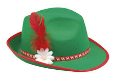 grüner Trachtenhut mit Blüte Feder Hut Tracht Sepplhut Tirolerhut Party