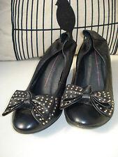 Mollini 'Crazed' Leather Wedge Heels Size 37