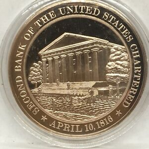 Franklin Mint American History series~1816 2nd Bank of the US Chartered