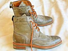 """👍  NEU """" HANDSTICH """" Modegeschmack Leder Boots / Schuhe Gr. 12  👍"""