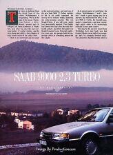 1991 SAAB 9000 2.3 Turbo Original Car Review Print Article J38