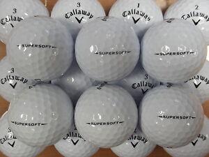 24 CALLAWAY SUPERSOFT GOLF BALLS PEARL / GRADE A LAKE BALLS  FREE DELIVERY